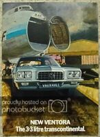 VAUXHALL VENTORA 3.3 Litre TRANSCONTINENTAL Car Sales Brochure 1972 #V2072/2/72