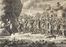 Funérailles Cafres et Hottentos Afrique du Sud Bernard Picart 1727 South Africa