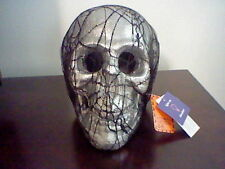 BRAND NEW LIGHT UP LACE SKULL HALLOWEEN DECORATION