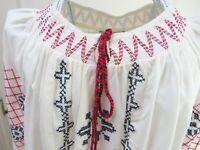NEW Embroidered Folk Tunic Sz 18 Tassels Plus Smock Boho Festival Arty Peasant