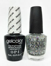 Opi Gelcolor Soak Off Polish- Snowflakes In The Air - Free Matching Lacquer .5oz