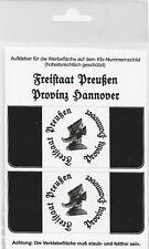 Kennzeichen-Aufkleber Freistaat Preußen Provinz Hannover
