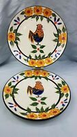 "Julie Ueland Feels Like Home 10 3/4"" Dinner Plates set of 2 Enesco Group 2001"