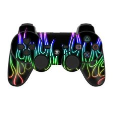 Sony PS3 Controller Skin - Rainbow Neon Flames - DecalGirl Decal