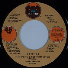 UTOPIA: The Very Last Time USA BEARSVILLE DJ PROMO 45 Mono Stereo NM-