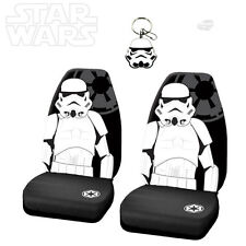 3PC STAR WARS STORMTROOPER CAR SEAT COVER WITH KEYCHAIN SET FOR FORD