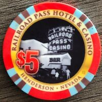 Railroad Pass Casino $5.00 Chip, Boulder City, Nevada 85th Anniversary 2016