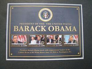 Sierra Leone Barack Obama 2 s/s  2010 MNH OG