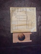 HARLAND AND WOLFF ORIGINAL BELFAST TITANIC WHITE STAR LINE SHIP TIME CARD WORKER