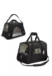 Travel Crate Soft Carrier size Large Black Dog Cat *Fast shipping * US Seller