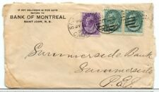 St. John N.B. double weight 1899 2 x 2c NUMERAL issue Canada cover