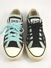 bd45204664df Converse All Star Women s 7M Low Double Tongue Sneakers Black   Teal - NICE  !