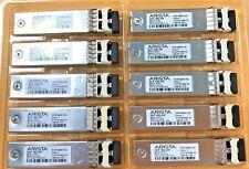 10x Arista 10G SFP-10G-SR XVR-00001-02 10GB 850nm SFP+ Transceiver Lot of 10