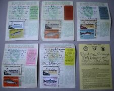 5x Lot Vintage California Sport Fishing License Stamps 1973-75, 1978,1981
