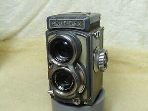 Rolleiflex Grey Baby 4x4 TLR Camera W/ Case, XENAR 60mm f/3.5 LENS