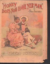 Honey Does You Love Yer Man 1895 Newspaper supplement Sheet Music