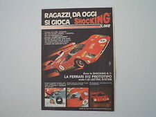 advertising Pubblicità 1972 FERRARI 512 SHOCKING LINE EDISON
