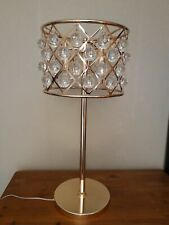 Serene table lamp pair Timothy Oulton ZigZag style Rose Gold 69x32cm K9 Crystal