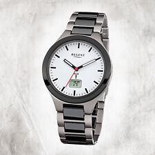Titan Ceramic Men's Watch FR-218 Radio Controlled Bracelet Black Grey URFR218