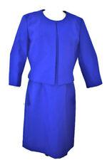 Emily Royal Blue Sheath Sleeveless Dress w/ Jacket 2pc set Work/Church Sz-14 New