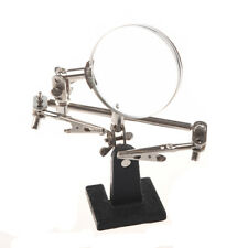 Magnifying glass Soldering Iron Stand magnifying tool with a silver clip D8F1