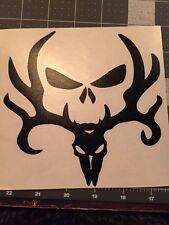 Deer Rack Hunter Punisher Skull Vinyl Decal Sticker