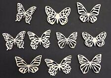 #1 Schmetterling Mix 10 Streudeko Holz Tischdeko Deko Bastel Zubehör helles Holz