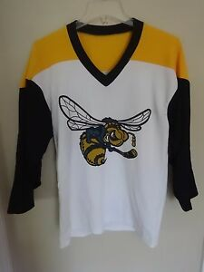 Vtg CHL Rio Grande Valley Killer Bees Defunct Hockey SGA Replica Jersey Men S/M