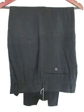 LOUIS RAPHAEL Dress Pants 36xUnfinished Black NWT 100% Silk