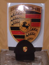 PORSCHE DESIGN DRIVER'S SELECTION FULL COLOR CRESTED BLACK HAT. NIB.