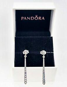 Genuine PANDORA Sterling Silver & CZ SHOOTING STARS Drop Earrings S925 ALE