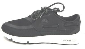 Sperry Size 7 Black Boating Sneakers New Womens Shoes