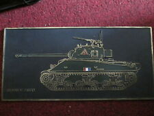 SHERMAN VC (FIREFLY)  TANK PLAQUE IDEAL DISPLAY ARMY COLLECTABLE