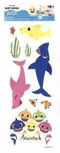 BABY SHARK Wall Stickers 9 Decals Room Nursery