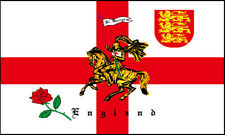 5ft x 3ft World Cup 100 Denier 3 Lions Charger St George Cross England Flag