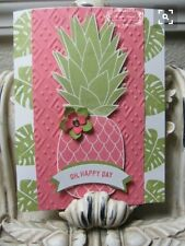 """Dies By Dave """"Pineapple Delight"""" for """"Pineapple"""" background + Stampin' Up! Paper"""