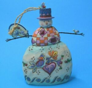 Jim Shore SNOWMAN ornament or figurine with birds