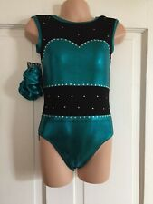 NEW GIRLS LEOTARD SIZE 26 - TEAL