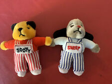Sooty And Sweep 6 Inch Plush Finger Puppet Soft Toys New (no Tags)