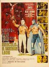 Santo And Blue Demon Vs Dracula And Wolfman Poster 01 Metal Sign A4 12x8 Alumini