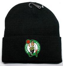 READ LISTING! Boston Celtics HEAT Applied Flat Logo on Beanie Knit Cap hat!