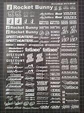RC DRIFT JDM CAR N6 - White Decal Sticker Label Yokomo MST HPI Tamiya Overdose