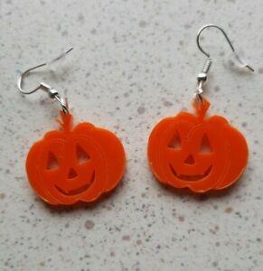 Pumpkin Halloween Earrings Novelty Dangle