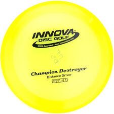 New Yellow Champion Destroyer Distance Driver 175g Innova Disc Golf Black Stamp