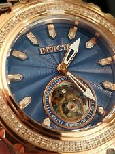 Invicta Reserve Subaqua Specialty LE Diamond Tourbillon Watch Two Tone Rose Gold