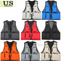 Multi-Pocket Outdoor Fishing Vest Photography Waistcoat Hiking Hunting Jacket