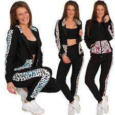 Leo Damen Trainingsanzug Hausanzug Hoodie Leopard Jogginganzug Sport Fitness 137