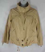 Lane Bryant VENEZIA Jacket 18 20 Beige Drawstring Mock Collar Cotton Plus Solid