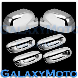02-09 GMC Envoy Chrome Mirror+4 Door Handle W/O Passenger Keyhole Cover COMBO