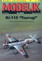 """PAPER-CARDBOARD MODEL KIT -Modelik- Nakajima Ki-115 """"Tsurugi"""""""